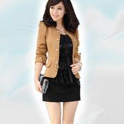 mycntaobao-Стройная куртки с длинными рукавами женщин двубортные шлифе
